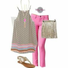 Pink and beige summer