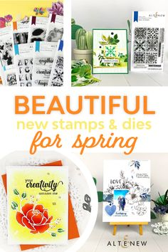 Altenew Stamps and Dies Altenew, Summer Winter, Clear Stamps, Layering, Stamping, Scrapbook, Seasons, Fall, Floral