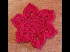 Fiore di loto all'uncinetto - Tutorial schema fiore - Flower crochet