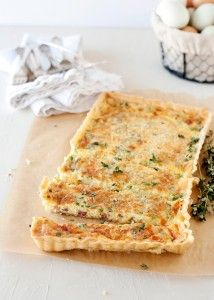 Quiche with pancetta and chives