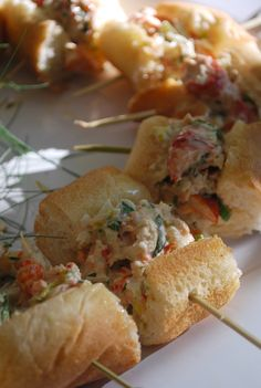Lobster Roll! #cocktail parties #catering #HudsonValley #wedding #appetizers #finger foods