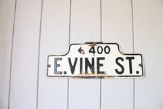 Vintage Industrial Street Sign // East Vine by genrestoration