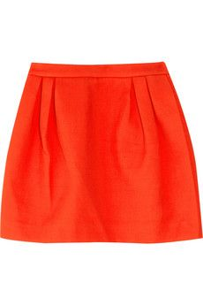 miu miu cotton-twill pleated mini skirt. $720