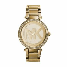 Women's Wrist Watches - Michael Kors Womens MK5784 Parker GoldTone Stainless Steel Watch -- More info could be found at the image url. (This is an Amazon affiliate link)