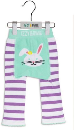 Blue and Lavender Bunny Legging Izzy & Owie - Giggles Gear