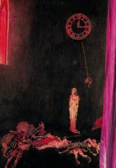 """""""Darkness and Decay and the Red Death held illimitable dominion over all."""" - Edgar Allan Poe's """"The Masque of the Red Death"""""""