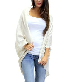 Take a look at this Ivory Anda Open Cardigan on zulily today!