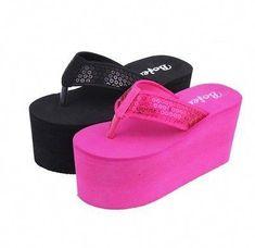 Platform pumps – High Fashion For Women Platform Flip Flops, Wedge Flip Flops, Flip Flop Shoes, Platform High Heels, Black Platform, Girls Flip Flops, Womens Flip Flops, Sexy Sandals, Shoes Sandals