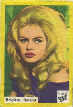 Brigitte Bardot on a vintage matchbox label