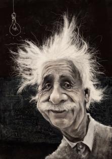 Albert Einstein by Adro