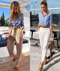 Today we will talk about the best summer work outfit ideas for 2019 year. If you want to find some great work outfit pictures and ideas. Casual Work Outfits, Professional Outfits, Work Attire, Mode Outfits, Work Casual, Classy Outfits, Chic Outfits, Trendy Outfits, Fashion Outfits