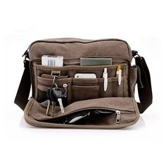 Buy Multi-Functional Office / Travel Shoulder Canvas Bag (Available in 3 Color) by Amaryllis on OpenSky