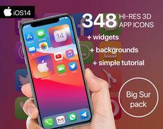 Music Clock, Apple Icon, Screen Icon, Phone Books, Custom Icons, Etsy App, Big Sur, Facetime, App Icon