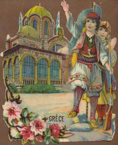 A2106-French-Victorian-Die-Cut-Advertising-Chocolate-Giveaway-Scrap-Greece