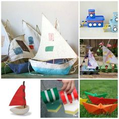Enjoy the Summer holidays with the kids and explore making boats with them. Which will float? How long will the last. Love these boat craft ideas.