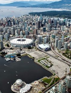 BC Place and Rogers Arena Vancouver - one of my favorite cities! (Top View British Columbia)