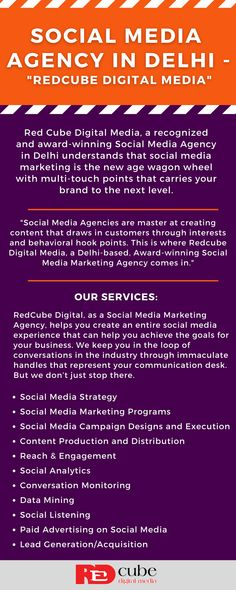 RedCubeDigital, as a Social Media Marketing Agency, help you create entire social media experience that can help you achieve the goals for your business. Social Media Marketing Agency, Social Media Services, Social Media Channels, Online Marketing, Digital Marketing, Social Channel, Digital Media, Goals, Create