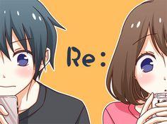 Kurihara and Amane tsurezure children Manga Anime, Anime Art, Tsurezure Children, Romance, Parenting Classes, Kids Behavior, Tsundere, Geek Out, Manga Games