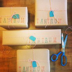brown paper gift packaging idea