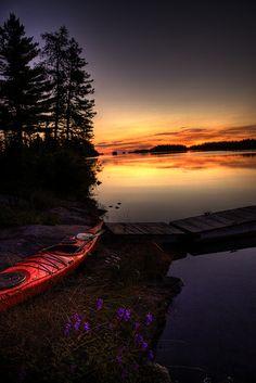 Tobin Harbor Sunrise, Lake Superior, Michigan