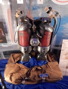 1964 jetpack worn by young Frank Walker in Tomorrowland