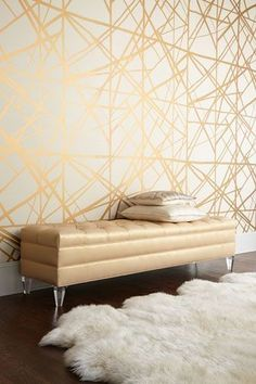deco papier peint or contemporain