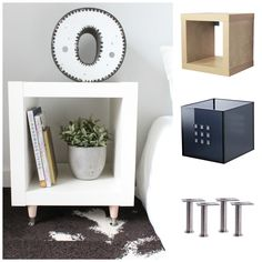 Expedit Bedside Table Ikea Hack