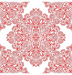 Seamless background with abstract ethnic floral pattern vector by Baksiabat on VectorStock®