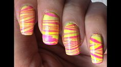Water Marble Nail Art |ARS Arts| How to Water Marble Your Nails Step by ...