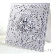White on white, layered flowers