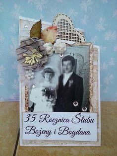 Moje Małe Dzieła: Kartka na 35 Rocznicę Ślubu