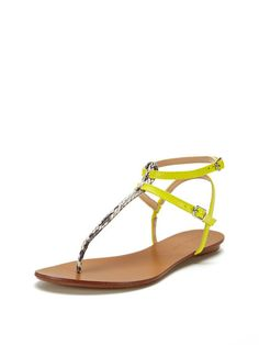 Dahlia T-Strap Thong Sandal by Maiden Lane at Gilt