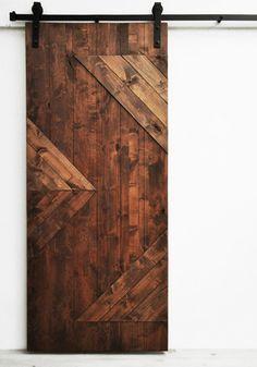 Barn Door Mod Y in Dark Chocolate – Modern Decor Home