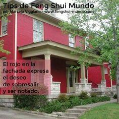 Feng shui el rojo en el exterior