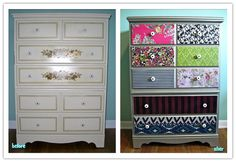 How to remodel a vintage dresser step by step DIY tutorial instructions
