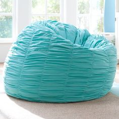 Ruched Pool Turquoise Beanbag Cover Insert 159