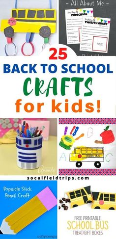 Are you a teacher or daycare provider looking for a back-to-school craft for your students?  Then check out these 25 Easy Back To School Crafts that are perfect for preschool and elementary school students, including toddlers. #backtoschool #kidscraft #teacher #teaching #preschoolcraft #education Back To School Crafts For Kids, Crafts For Kids To Make, Kids Crafts, Kids Activities At Home, Back To School Activities, Kindergarten Art Projects, In Kindergarten, Pencil Crafts, Preschool Activities