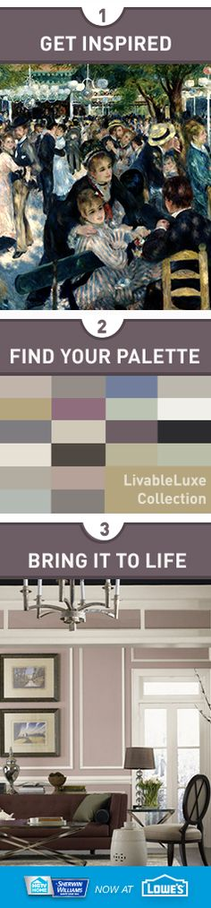 "Looking for the perfect color palette? Take color cues from the ""Livable Luxe"" collection from HGTV HOME™ by Sherwin-Williams. Combine the palette's softer shades for refined and relaxed elegance. Save the bolder hues for rooms and walls where you want high contrasts for added drama."