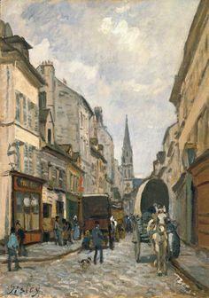 Alfred Sisley, A Street Scene (La grande rue à Argenteuil)