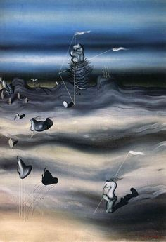 Raymond Georges Yves Tanguy was born January 1900 in Paris, in the Navy Ministry where his father Felix, a retired navy officer . Surrealism Painting, Painting Collage, Paintings, Yves Tanguy, Jean Arp, Art Terms, Rene Magritte, Japanese Prints, Fantastic Art