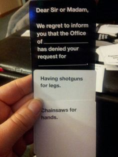 cards against25 Funny Cards Against Humanity answers (33 photos)