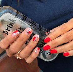 30 Best Spring Nail Designs Inspire Your Next Manicure Shellac Nails, Nail Manicure, Red Nails, Nail Polish, Pastel Nails, Bling Nails, Acrylic Nails, Nail Art Vernis, Nagellack Design