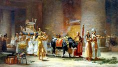 Frederick Arthur Bridgman - American, 1847-1928  The procession of the bull Apis  1879