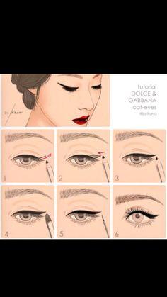 steps, make up, eyeliner Smudge Proof Eyeliner, No Eyeliner Makeup, Eye Makeup Tips, Skin Makeup, Makeup Inspo, Makeup Brushes, Beauty Makeup, Black Eyeliner, Makeup Ideas