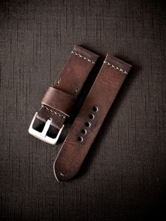 http://www.basandlokes.com/castro-oxblood-handmade-leather-watch-strap/