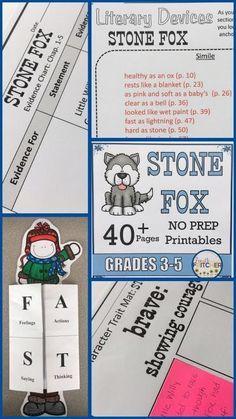 Stone Fox complete Literature Study for Grades 3-5.
