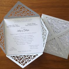 Boda Judy y Felipe !!! Mil felicidades !!! #tarjetas #weddingfavors #bodas #favors #troquel #wedding #decoracion #primeracomunion…