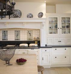 NORTHAMPTONSHIRE MANOR - Thomas Thomas Thomas Thomas Aga Kitchen, Kitchen Tiles, Kitchen Dining, Kitchen Cabinets, Take Me Home, Next At Home, Aga Surround, Best Cooker, Georgian Homes