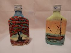 Our new product. Hand painted bottles of Brugal Rum. The perfect souvenir of your Dominican Republic vacation.