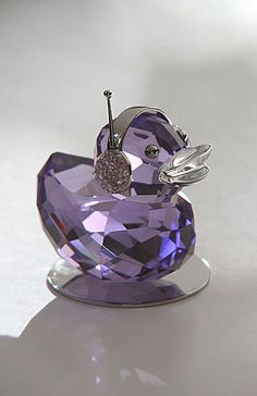 Swarovski Moments Happy Ducks, Violet Crystal Duck